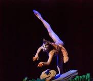 Kinesisk modern solo dansare Arkivbilder