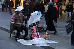 Kinesisk musiker i Sydney Fotografering för Bildbyråer