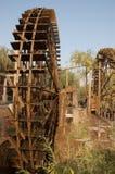 kinesisk nunneklosterwaterwheel Arkivbild