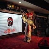 kinesisk opera Dans som är festlig Sichuan Arkivfoto