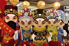 Kinesisk operapappersstaty arkivbild