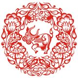 kinesisk oxezodiac stock illustrationer