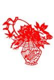 Kinesisk papper-snitt blommakorg Royaltyfria Foton