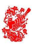 Kinesisk papper-snitt fågel Arkivfoto