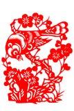 Kinesisk papper-snitt fågel Royaltyfria Bilder