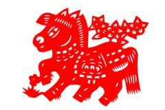 Kinesisk papper-snitt häst Arkivbild