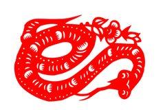 Kinesisk papper-snitt orm Arkivfoto