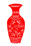 Kinesisk papper-snitt porslinvas Royaltyfri Bild