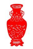 Kinesisk papper-snitt porslinvas Fotografering för Bildbyråer