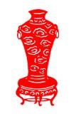 Kinesisk papper-snitt porslinvas Royaltyfria Foton