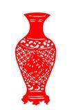 Kinesisk papper-snitt porslinvas Royaltyfria Bilder