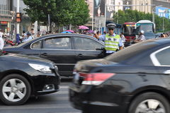Kinesisk paramilitär polis Royaltyfria Bilder