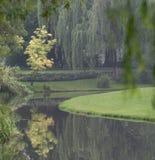 Kinesisk park i Hangzhou nära Xihu laken Royaltyfri Foto