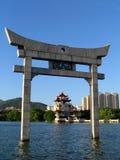 kinesisk pavillion Fotografering för Bildbyråer