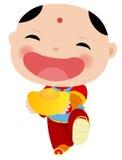 Kinesisk pojke - lyckligt kinesiskt nytt år Royaltyfri Bild