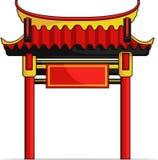 Kinesisk port vektor illustrationer