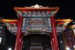 Kinesisk port i den Bangkok kineskvarteret Arkivfoton