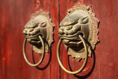 Kinesisk portklapp Royaltyfria Bilder