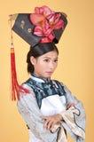 Kinesisk prinsessa med vikta armar Arkivbild