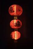 Kinesisk röd lampa Royaltyfria Bilder