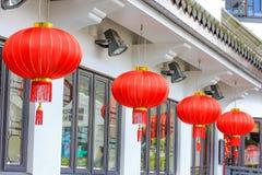 Kinesisk röd lampa Royaltyfria Foton