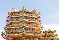 Kinesisk relikskrin, ett härligt kinesiskt tempel. Arkivbild