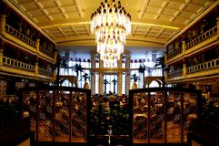Kinesisk restaurang, kungligt medelhavs- hotell Guangzhou royaltyfria bilder