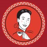 Kinesisk Retro person Arkivbilder