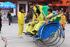 kinesisk rickshaw Fotografering för Bildbyråer