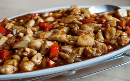 Kinesisk sötsak och sur maträtt Arkivbild
