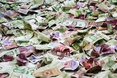 Kinesisk sedelgrupp en dollarräkning Royaltyfri Fotografi