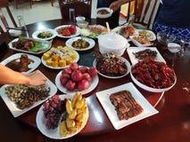 Kinesisk shandong traditionell mat fotografering för bildbyråer