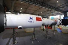 Kinesisk Shenzhou Spaceship och modell för avståndsstation Fotografering för Bildbyråer