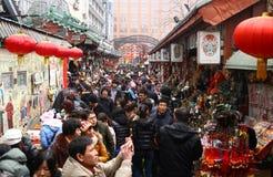 kinesisk shoppinggata Arkivbilder