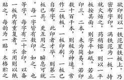 Kinesisk skriftmodell Arkivfoto