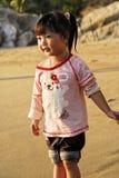 kinesisk solnedgång för barn under Fotografering för Bildbyråer