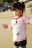 kinesisk solnedgång för barn under Arkivfoton
