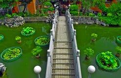 kinesisk spångträdgård Arkivbild