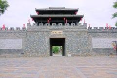 kinesisk stadsport royaltyfria bilder