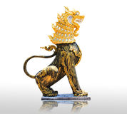 Kinesisk stenlejonstaty symbolet av makt för kines Arkivfoton