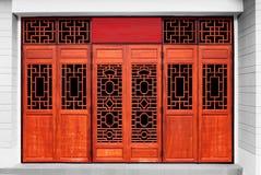 Kinesisk stil för dörrar Arkivfoton