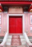 Kinesisk stil för dörrtempel Arkivbilder