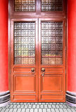 Kinesisk stil för forntida dörr Fotografering för Bildbyråer