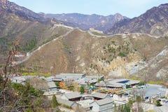 kinesisk stor fjädervägg Arkivbild