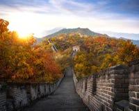 Kinesisk stor vägg i höst arkivbild
