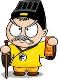 Kinesisk Taoistpräst stock illustrationer