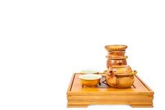 Kinesisk te- och tekannauppsättning Royaltyfri Foto