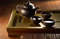 Kinesisk teaset Arkivfoton