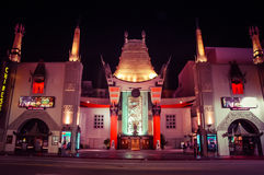 Kinesisk teater för Gruman/Manns, Hollywood arkivbild