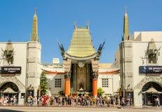 Kinesisk teater i den Hollywood boulevarden, Los Angeles arkivfoto